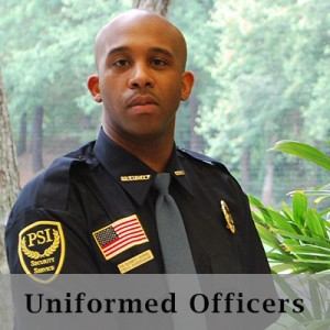 Uniformed guards in Atlanta Georgia